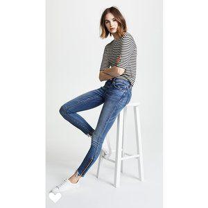 Blank NYC Interoffice Moto Zip Ankle Skinny Jeans